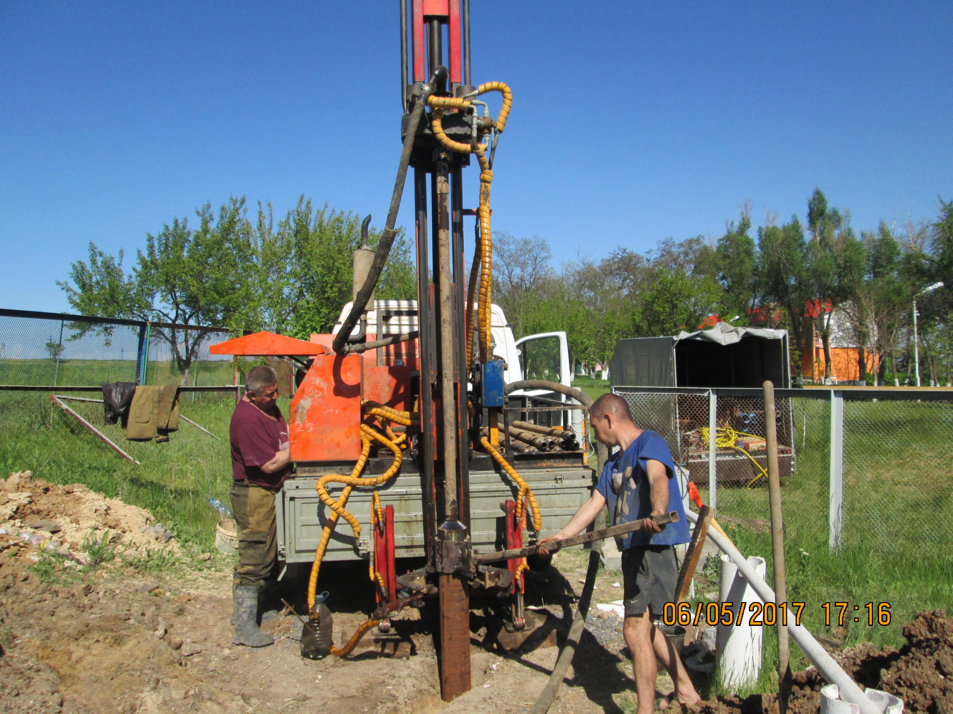 схема оборудования бурения скважины на воду